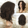"8A #4 Wavy Lace Front Wig Thick Short Bob For Black Woman 8""-18"" Brazilian 100% Unprocessed Virgin Hair Full Lace Wigs BY236"