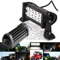 Universal 36W 6000K Cree Spot LED Running Work Light Bar Black For Motorcycle Car Boat Marine