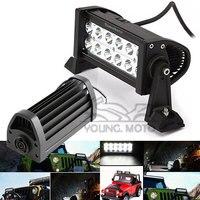 Universal 36W 6000K Cree Spot LED Running Work Light Bar Black For Motorcycle Car Boat Marine