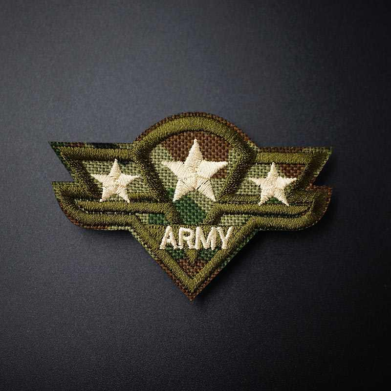 ARMY (Size:7.6X4.9cm) DIY Cloth Badge Mend Decorate Patch Jeans Jackets Bag Clothes Apparel Sewing Decoration Applique