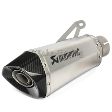 60MM Inlet Motorcycle S1000R 2010-2016 Akrapovic Carbon Exhaust Pipe Muffler Slip On With DB Killer for BMW S1000RR 2010-2014