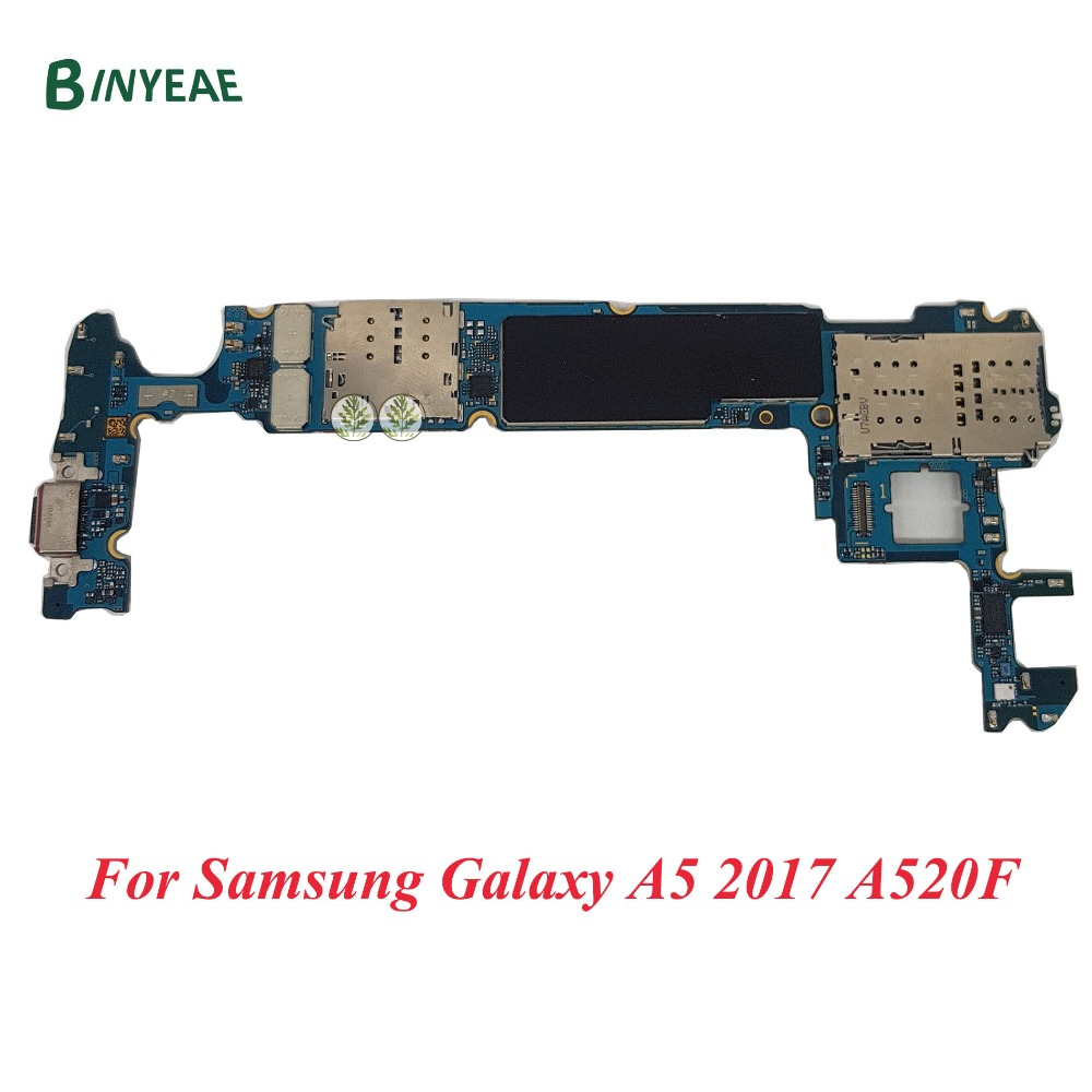 BINYEAE Original Motherboard Unlocked Replace For Samsung Galaxy A5 2017 A520F Mainboard full chips logic board