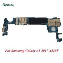 BINYEAE  Original Motherboard Unlocked Replace For Samsung Galaxy A5 2017 A520F Mainboard full chips logic board Single Sim 32GB international language original n7100 mainboard chips logic 16gb for samsung galaxy note 2 motherboard