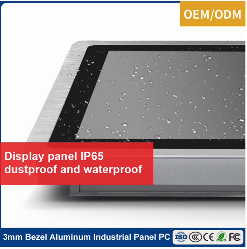 Silver Aluminium Alloy 17 Inch Capacitive Touch  Monitor
