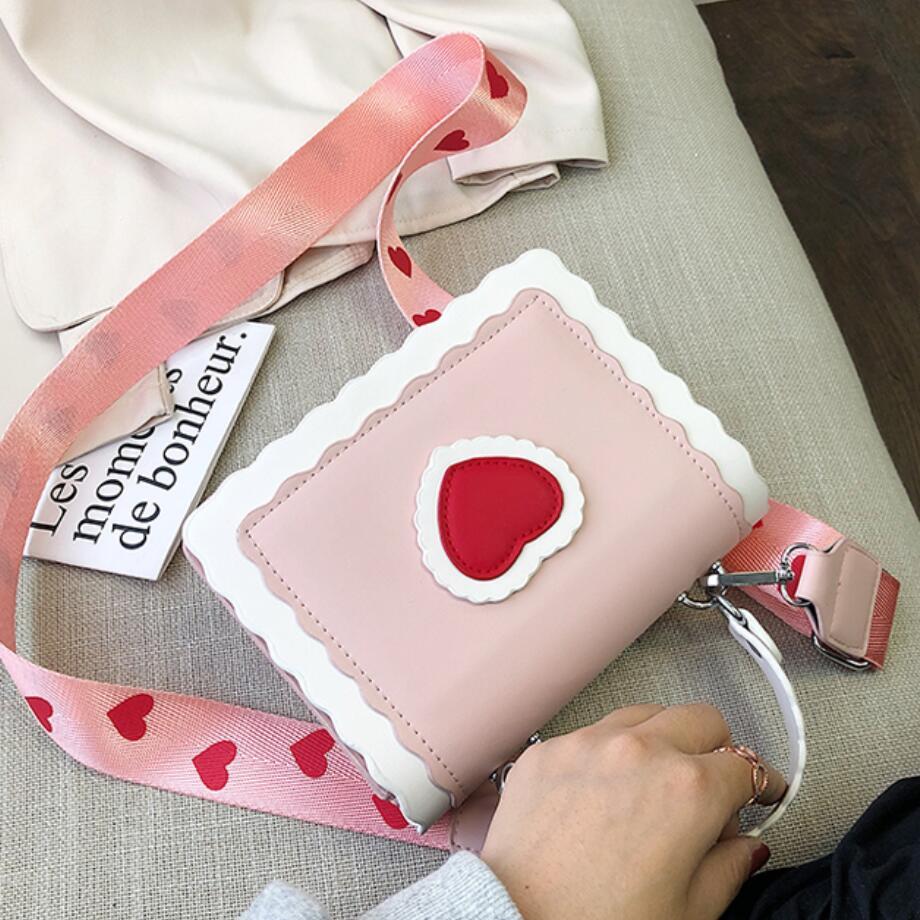 Sweet Girl Portable Flap Square Bag 2019 New Quality PU Leather Women's Designer Handbag Cute Tote Shoulder Messenger Bag