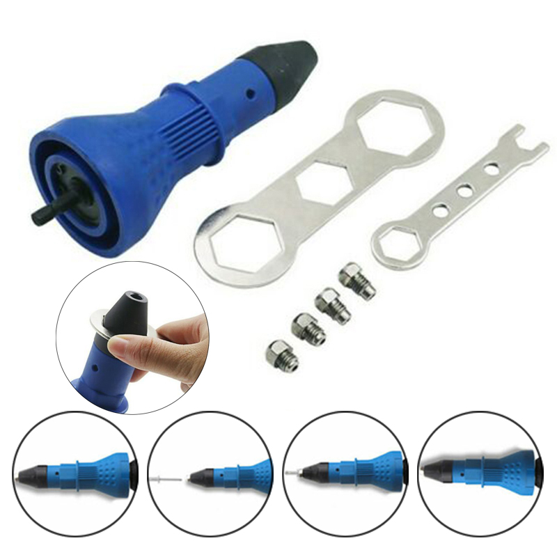 Spare Parts Riveter Equipment Assembly Nozzle Electric Nut Adaptor Hand Tools Attachment Replacement Set Drilling