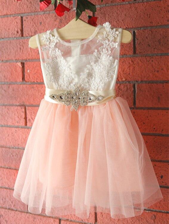 2017 для маленьких девочек кружевное платье-пачка принцессы для девочек Сетчатое платье нарядное платье для девочек Детская летняя одежда