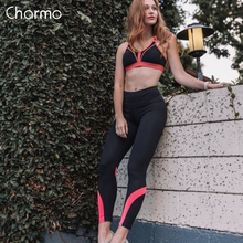Charmo Women Yoga Pants Slim High Waist Sports Gym Fitness Elastic Trousers Running Breathable Wear Legging