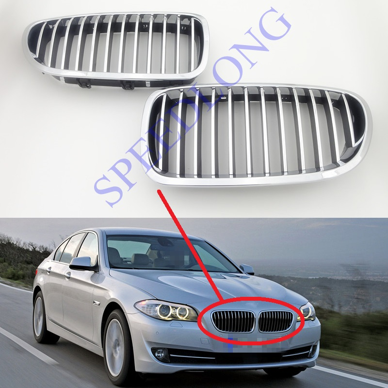 Aliexpress Com Buy Chrome Front Upper Grill Grille For: 2 Pcs/Pair RH And LH Chrome Front Upper Kidney Grille