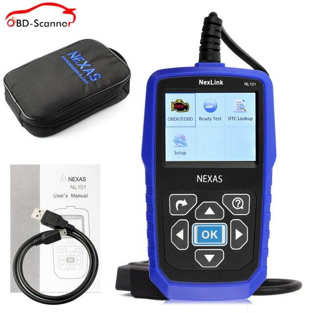 Obd 2 автоматический диагностический сканер Батареи Мониторинга obd Автомобильный Диагностический Инструмент Nexlink NL101 превзойти elm327 bluetooth obdii