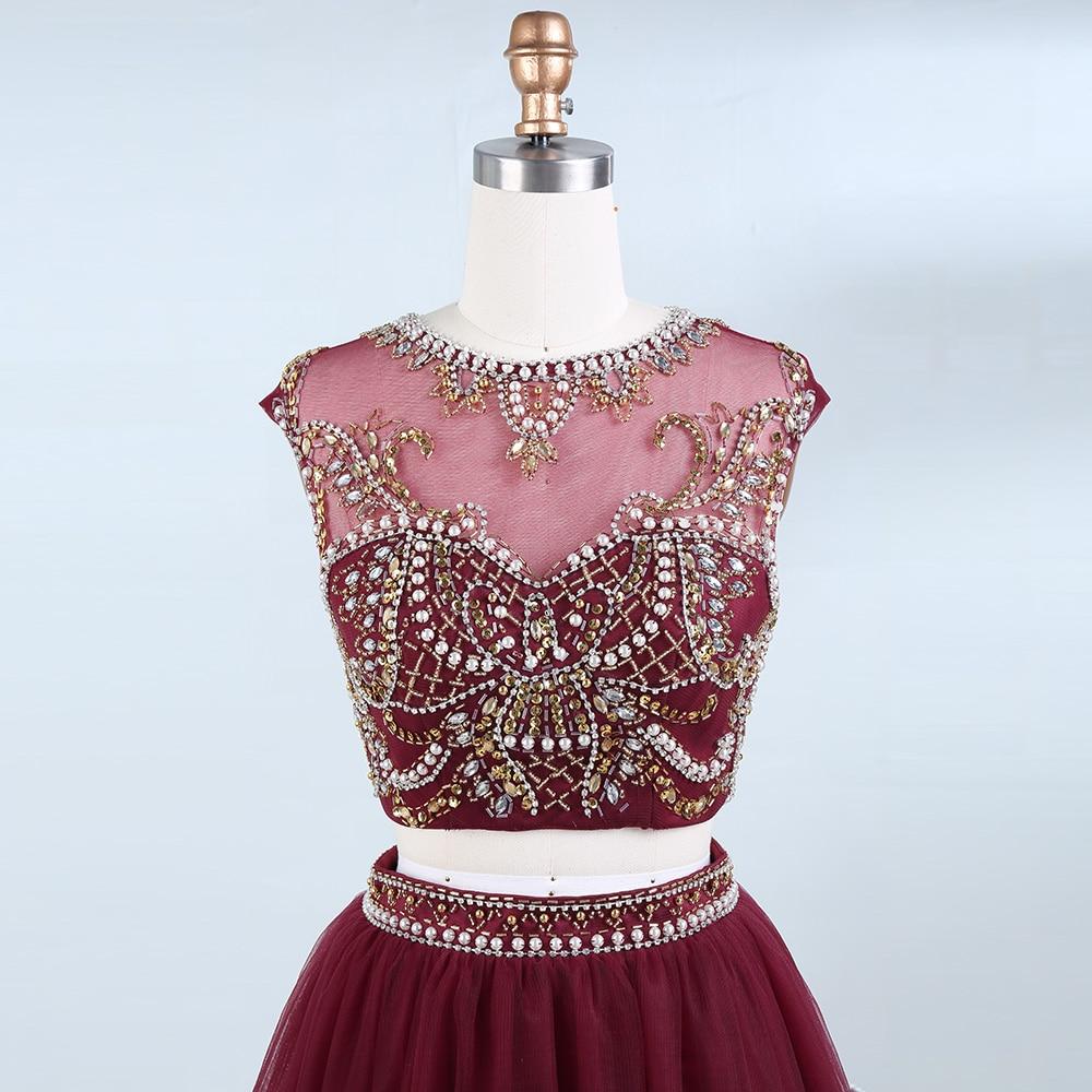 BeryLove İki Adet Scooped Kısa Mezuniyet Elbiseleri Boncuk İnciler - Özel Günler Için Elbise - Fotoğraf 4