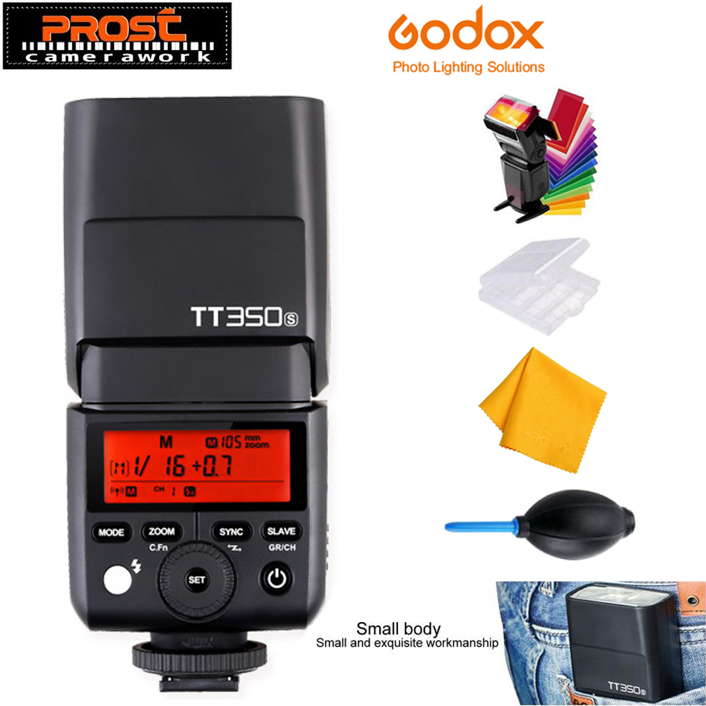 Godox Mini Speedlite TT350S TT350N TT350C TT350O TT350F Camera Flash TTL HSS GN36 for Canon Nikon Sony Fujifilm Olympus Camera godox flash tt350f fuji ttl hss 2 4ghz 1 8000 s gn36 mini speedlite flash for fujifilm dslr camera free shipping