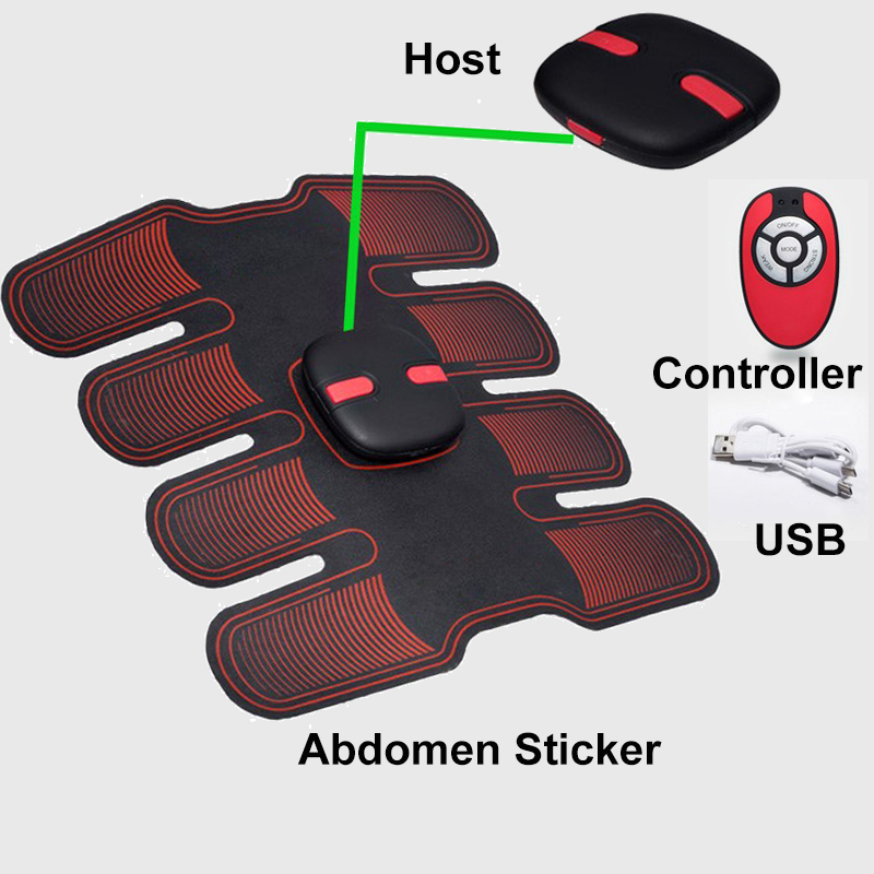 Wireless Abdominal Muscle Toner Electric Stimulator Massager Back Pain Relief ABS Smart EMS Muscle Trainer Fitness 10 Gear Belt цена и фото