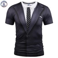 Mr 1991INC Brand Summer T Shirt Fashion Fake Two Pieces Suit Style Printing Men Women Funny
