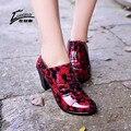 2016 Nuevos Zapatos de Lluvia Las Mujeres de Tacón Alto Gruesas Transparentes Botas de Lluvia de Las Mujeres RainBoots Impermeables de Goma Botas Martins