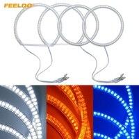 FEELDO 4Pcs/Set Car LED Halo Rings Angel Eyes DRL Head Lamp For BMW E84/X1(2010 2011) Non projector