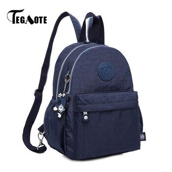 TEGAOTE Small Backpack for Teenage Girls Mini Backpacks Female Bolsas Mochila Feminina Nylon Women's Back Pack Sac A Dos 2018