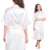 Sección Larga en blanco Logotipo Personalizado Kimono Bata de Seda del Faux Mujeres Novia de La Boda de dama de Honor Batas Boda Bachelorette Preparewear