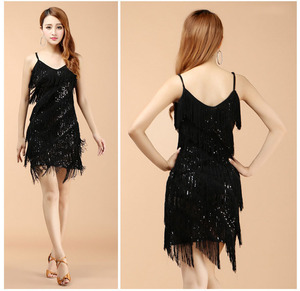Image 2 - 高品質のセクシーなラテンダンスドレスフリンジラテンダンスの衣装に販売