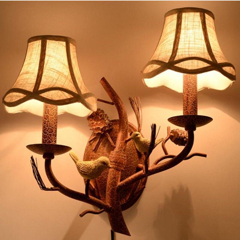 Американский кантри Ретро столовая железа творческая личность интернет кафе птица подвесные светильники ZL236 lo1021