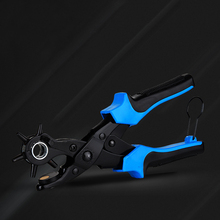 Multifunctional punch pliers. tool.Revolving Leather.Punch tool . Button. rivet. Eyelets.Belt Puncher Punch Round Hole punching pliers hole diameter 6mm hole puncher hit 1 8 page hand punch pliers