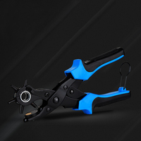Multifunctional punch pliers. tool.Revolving Leather.Punch tool . Button. rivet. Eyelets.Belt Puncher Punch Round Hole