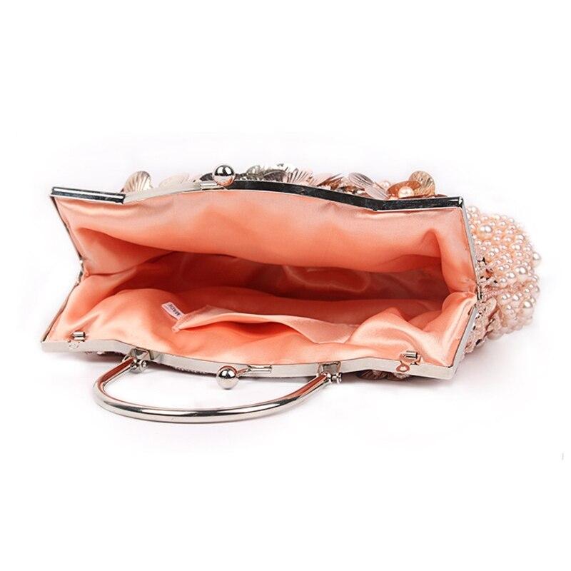 Il Sacchetto red Frizione Da viola Partito Donne Elegante colore Della Nero Metallo Borsa Rosa Catena oro Del Paillettes Rilievo Sera In R06PHwq0