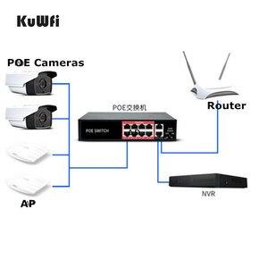 Image 1 - 48 فولت POE شبكة محول ايثرنت 10/100Mbps 8 منافذ التبديل حاقن للكاميرا IP نقطة وصول لاسلكية معدات تعدين