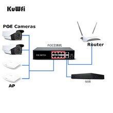 48V POE ağ Ethernet anahtarı 10/100Mbps 8 port anahtarı enjektör IP kamera için kablosuz erişim noktası madencilik ekipmanları