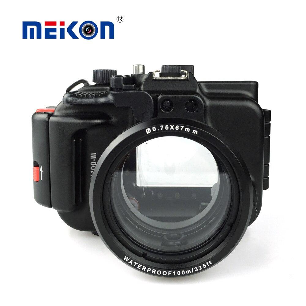 Meikon boîtier de caméra en aluminium pour plongée 100 M/325ft boîtier de caméra en aluminium étanche sous-marine pour Sony RX100 III/RX100 M3