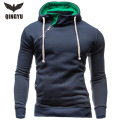 2016 Brand Fashion Mens Hooded,Long Sleeve  Pullover Hoodies Mens Clothes Solid Men Hooded Sweatshirt XXL