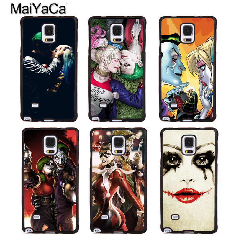 MaiYaCa Harley Quinn Joker Mad Love Phone Cases For Samsung Galaxy S4 S5 S6 S7 edge plus S8 S9 plus Note 4 5 8 Back Cover Coque