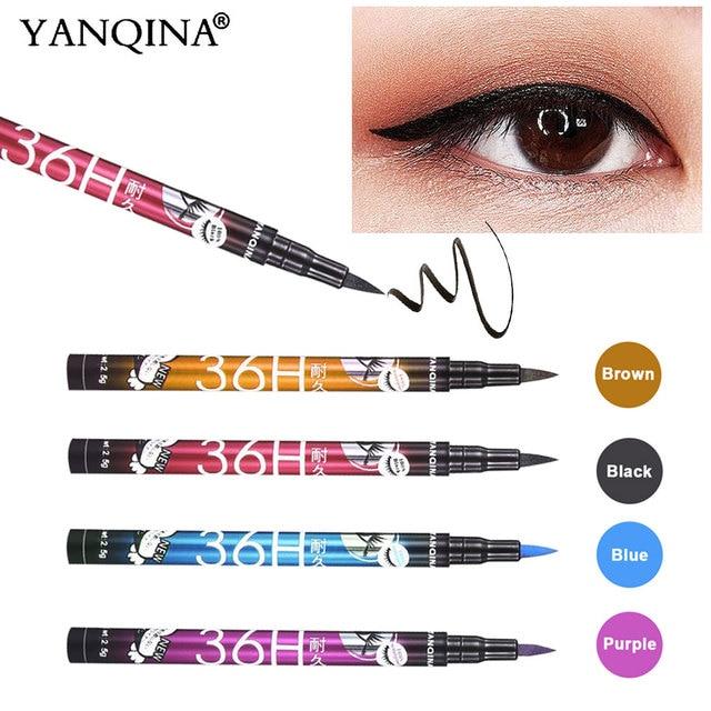 YANQINA 36H Black Waterproof Liquid Eyeliner Make Up Beauty Comestics Long-lasting Eye Liner Pencil Makeup Tools for eyeshadow 3