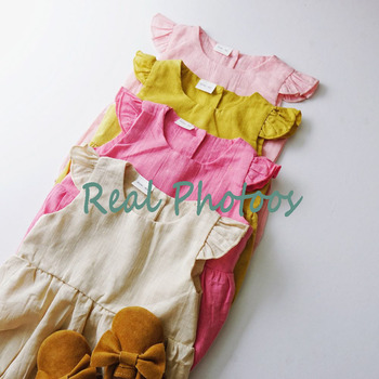Jumpsuit Rompers Ruffle Katun newborn  4