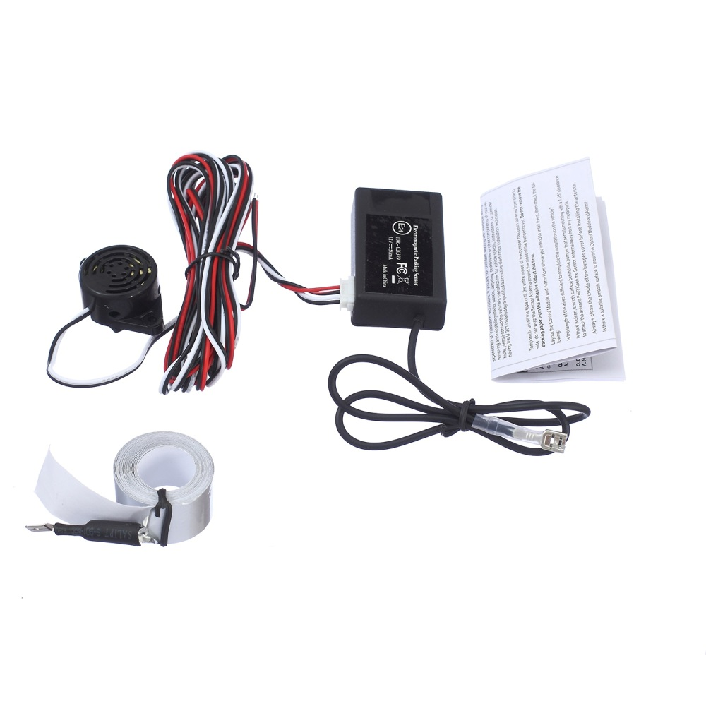 Free shipping auto electromagnetic parking sensor no holes needeasy installparking radarBumper guard back-up parking sensor