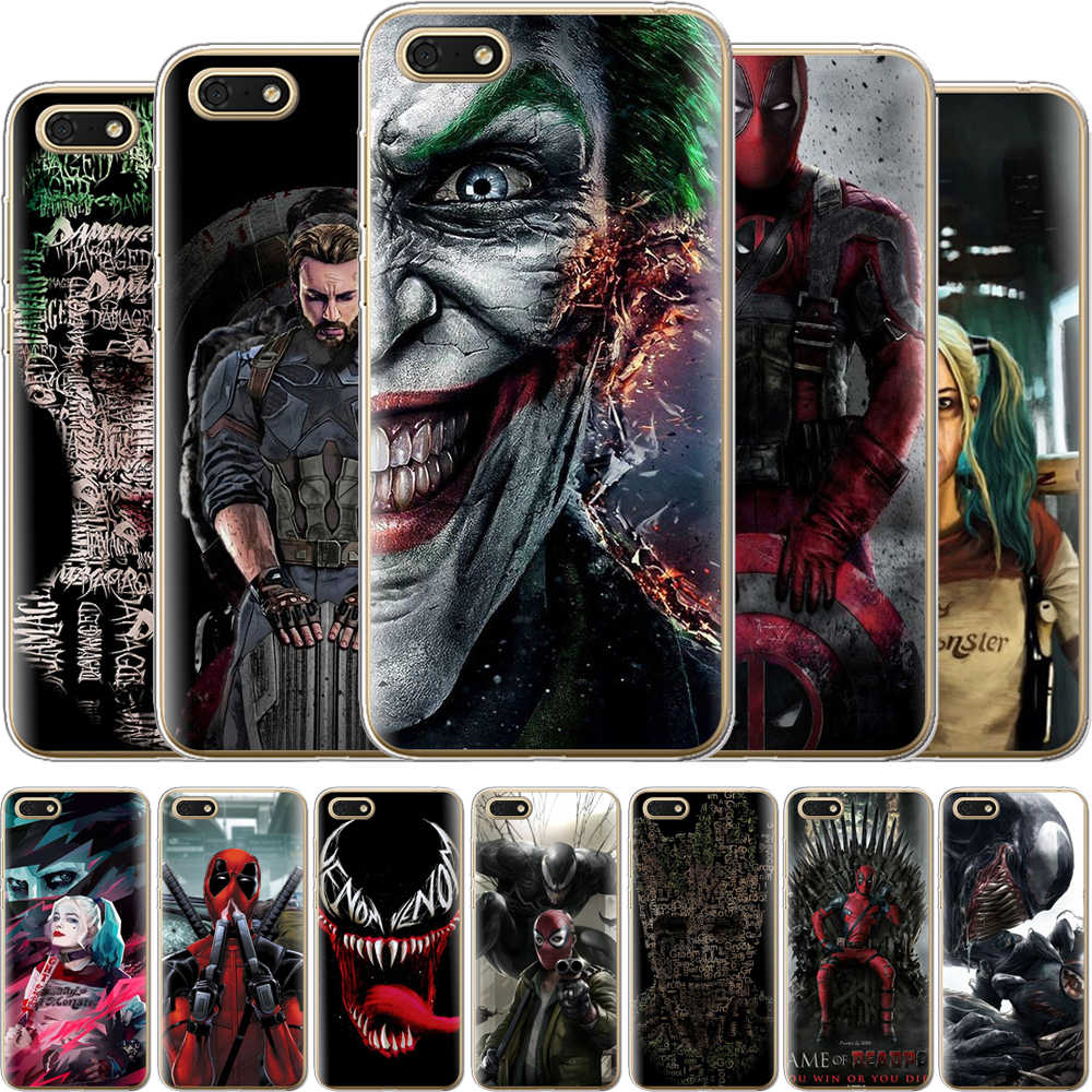 Venom Pattern TPU Case For Huawei Y6 Prime 2018 Honor 7A Pro Silicone Case Cover For Honor 10 9 8 Lite Honor 7A Phone Cases