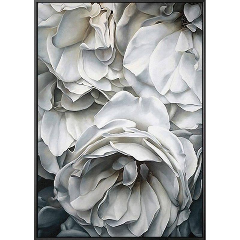 100% Hand Geschilderd Super Realisme Witte Bloemen Bloemblaadjes Art Olieverfschilderij Muur Art Wall Schilderij Voor Live Kamer home Decor