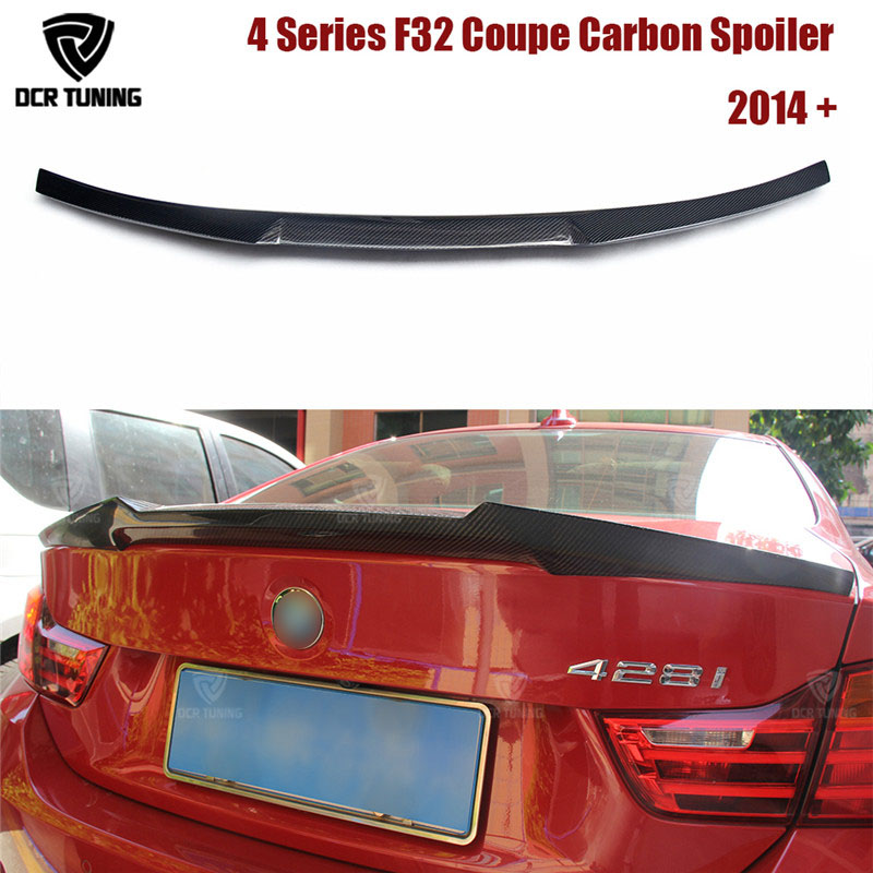 For BMW F32 Carbon Spoiler 4 Series 420i 428i 430i 2 Door Coupe F32 Carbon Fiber Rear Trunk Spoiler M4 Style 2014 2015 2016 - UP p style for bmw f32 spoiler carbon fiber material 4 series coupe f32 carbon spoiler 2 door carbon wings 2014 2015 2016 up