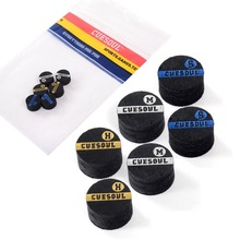 CUESOUL 10mm 6 Layer Pigskin Hard Snooker Cue Tips,Mix Hardness Tip.10mm Tip,Snooker Tip