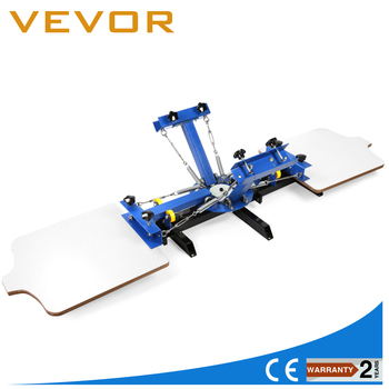 Free shipping 4 Color 2 Station Silk Screen Printing Machine Print Manual Printing WELL MADE manual flatbed screen printer machine price flat screen print manual screen printer hand screen printing machine