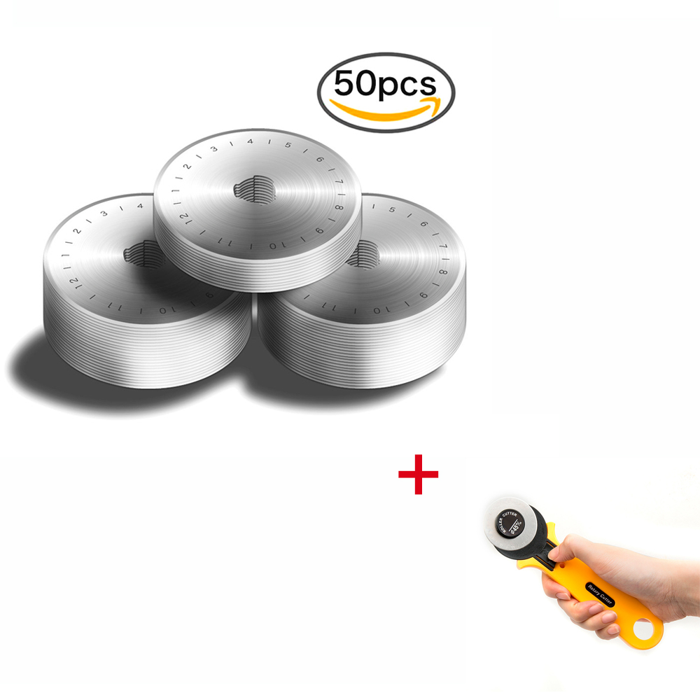 Dropshipping 50pcs 45MM Rotary Cutter Cutters Blades + a free Rotary Cutter dropshipping