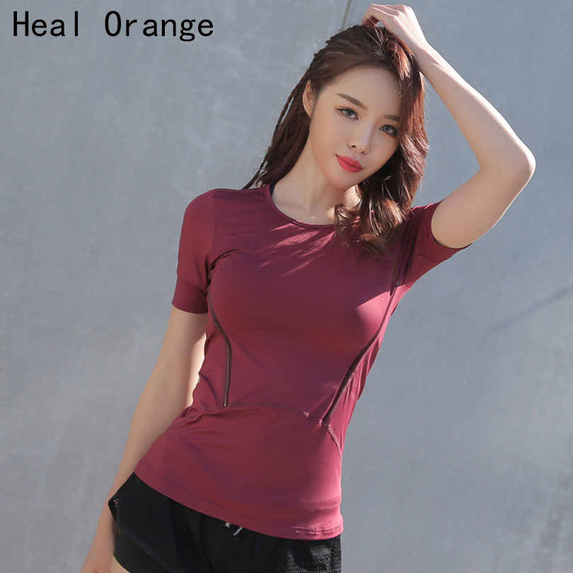 Professional Sport Running T Shirt for Women Dry Quick Gym Yoga Shirt Ladies Fitness Short Sleeve T-shirt Jogging Running Tops