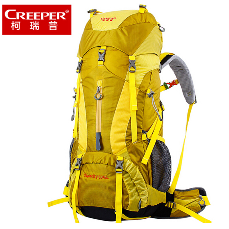 Creeper 65L Backpack Camping Hiking Climbing Sport Mountaineering Double Shoulder Bag Large Capacity Waterproof Travel Backpacks wissblue professional climbing backpack camping outdoor backpack cr carrying system hiking gear trekking travel sport backpack