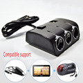 3Sockets 120W Autos Cigarette Lighter Splitter 2Usb Ports Charger Adapter With Switch Car Accessory