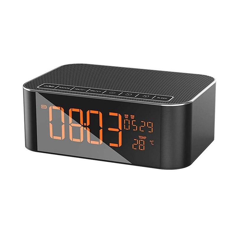 Haut-parleur Bluetooth dido, haut-parleur Bluetooth Dido Subwoofer réveil Radio Fm carte Tf (Dy32)