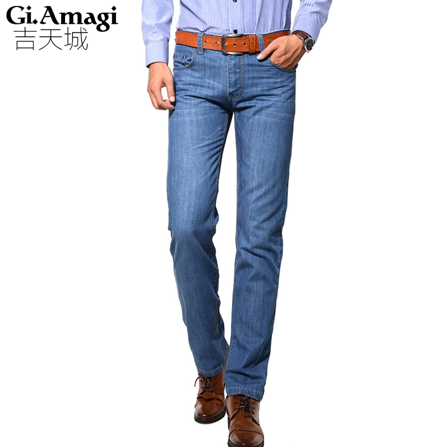 Mens Jeans 95 Cotton Blue Color Fashion Jeans Famous Brand Jeans Men Retail Plus Size 28