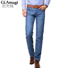 Herren Jeans 95% Baumwolle Blau Farbe Fashion Jeans Famous Brand Jeans Männer Einzelhandel Plus Größe 28-38 NYP008