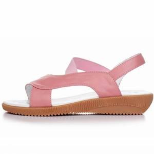 Image 2 - GKTINOO 2020 Genuine Leather Women Sandals Fashion Summer Sweet Women Flats Heel Sandals Ladies Shoes Plus Size 33 43