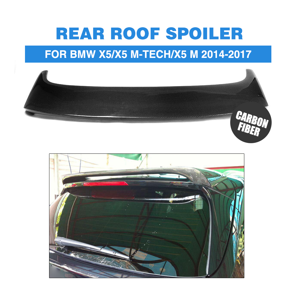 Carbon Fiber Rear Roof Spoiler Top Lip Wing H Type Fit For BMW E70 X5 2014 Black 2007 bmw x5 spoiler