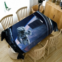 Astronaut 3D Stereo Tablecloth Kitchen Dining Table Decor Home Rectangular Party Covers Tapestry Wall Ornaments